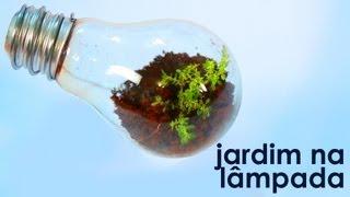 Jardim na lâmpada (como fazer um terrário em uma lâmpada) (artesanato + reciclagem)