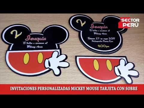 Invitaciones Personalizadas Mickey Mouse Youtube