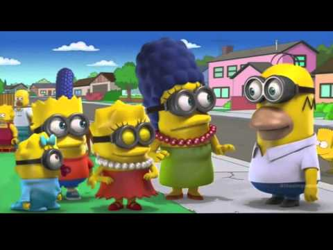 The Simpsons 3d Wallpaper Minions The Simpsons Youtube