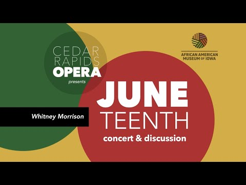 Meet our Juneteenth Concert soprano--Whitney Morrison!