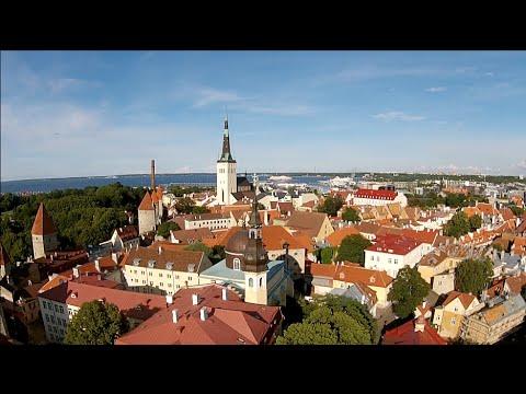 Flying above Tallinn Old Town, City, Beach, Harbour - with DJI Phantom 2 Vision+