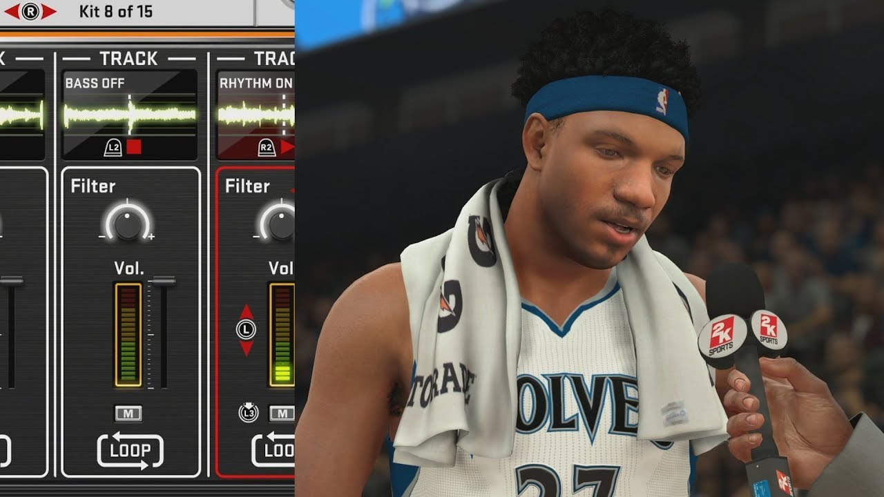 b9a0e995573 NBA 2K18 My Career - Making Music in the Studio! PS4 Pro 4K Gameplay ...