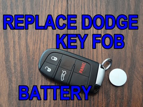 How to replace a dodge key fob battery