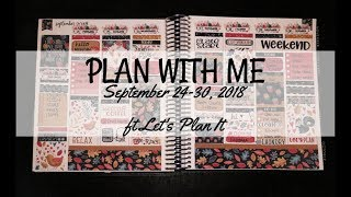 Plan With Me - September 24-30, 2018 | ft Let