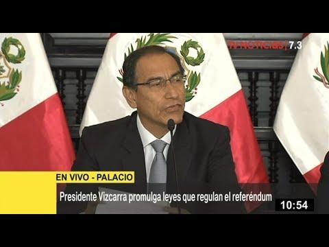 Presidente Martín Vizcarra responde a Chávarry y sobre anuncio de renuncia de Salaverry