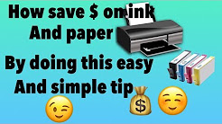 How To Save Ink And Paper When You Print Coupons