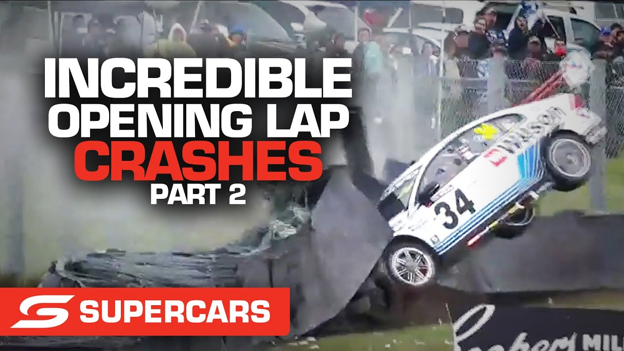 WILD first lap crashes: Part 2   Supercars 2021