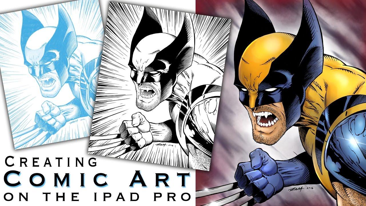 Creating Comics on the Ipad Pro with Procreate