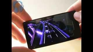Zune HD : preview of Audiosurf Tilt (video game 3D)