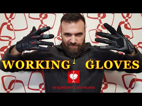 "#10  Рабочие перчатки !!! ""Engelbert Strauss"" (Германия).  Working Gloves. Обзор!!!"