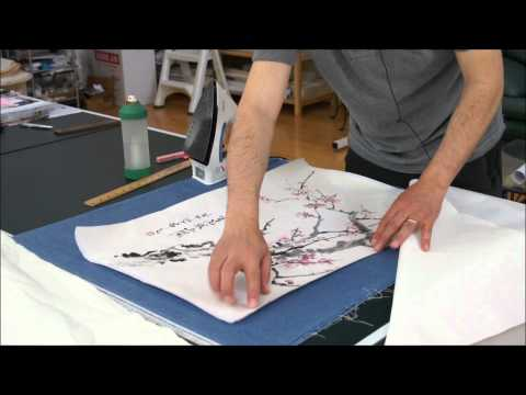 How to Mount my Plum Blossom Chinese Painting with Silicone Paper for Dry Mounting