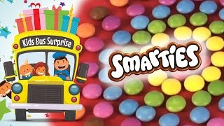 Learn Colors and Letters with Smarties Chocolate Candy Circles!