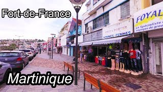 (part 2) Martinique Island - Walking in Fort-de-France the Capital 2017 4K