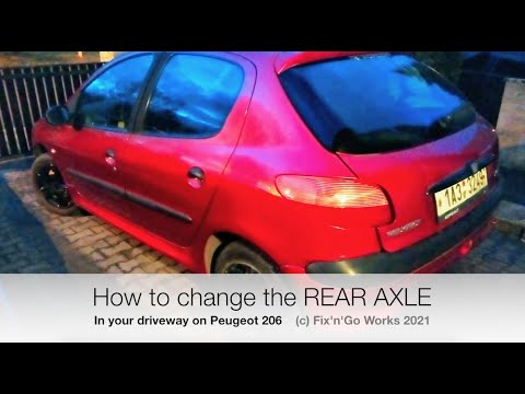 How to change the rear axle in your driveway on Peugeot 206