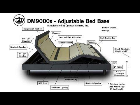 dynasty-mattress-new- -dm9000s-top-of-the-line- -adjustable-bed-base- -independent-head-tilt,-lumbar