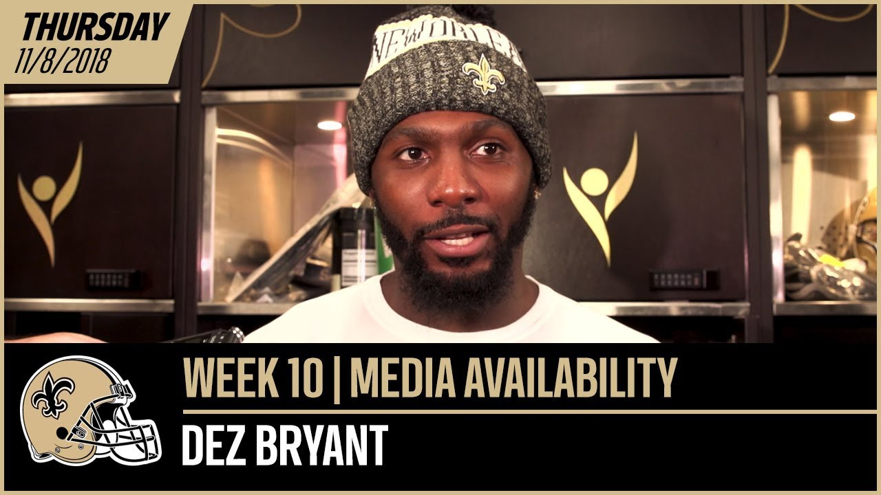 Dez Bryant Who Wouldn T Want To Play With Drew Brees Week 10 Post Practice