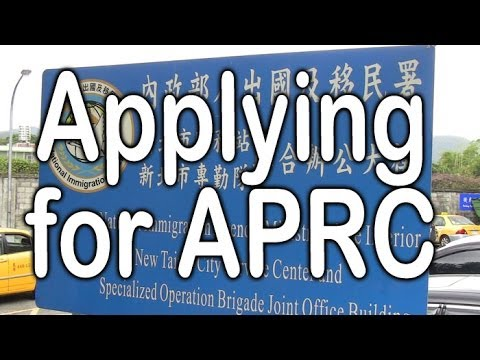 How to apply for APRC in Taiwan