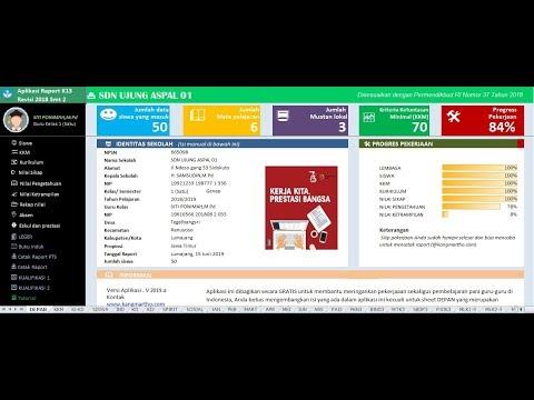 Aplikasi Raport K13 SD Semester 2 Revisi 2018 Kelas 1 S/d 6