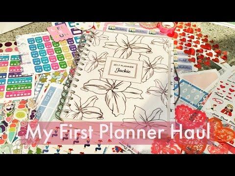 My First U.K Planner + Sticker Haul! Plus Kikki K, Etsy & Hobbycraft