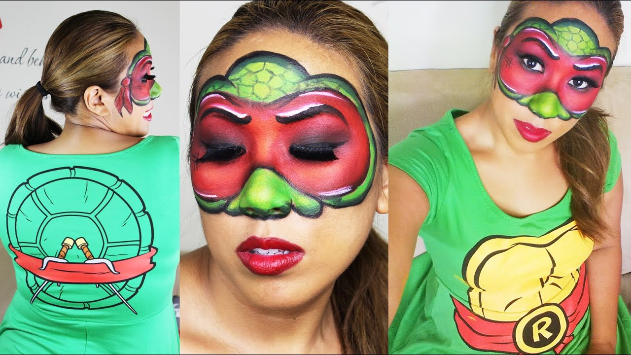 Halloween Makeup Teenage Mutant Ninja Turtles - Raphael - YouTube