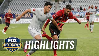 Sc freiburg was looking to avoid its first 4-game winless streak of the season, but kai havertz had other ideas as rising german star netted game's o...