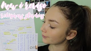 HOW I REVISE RELIGIOUS STUDIES (RE/RS)| Floral Sophia