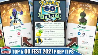 COMPLETE *GO FEST 2021* PREP & TIP GUIDE - BEST EVENT OF THE YEAR! 8 NEW SHINIES | Pokémon GO