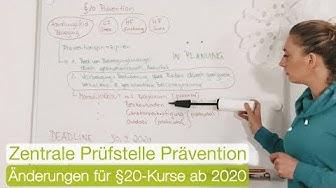 Krankenkassen-Bezuschussung - Änderungen für §20-Präventionskurse ab Okt. 2020