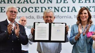 Acuerdo para regularizar vehículos usados de procedencia extranjera, desde Ensenada, Baja California