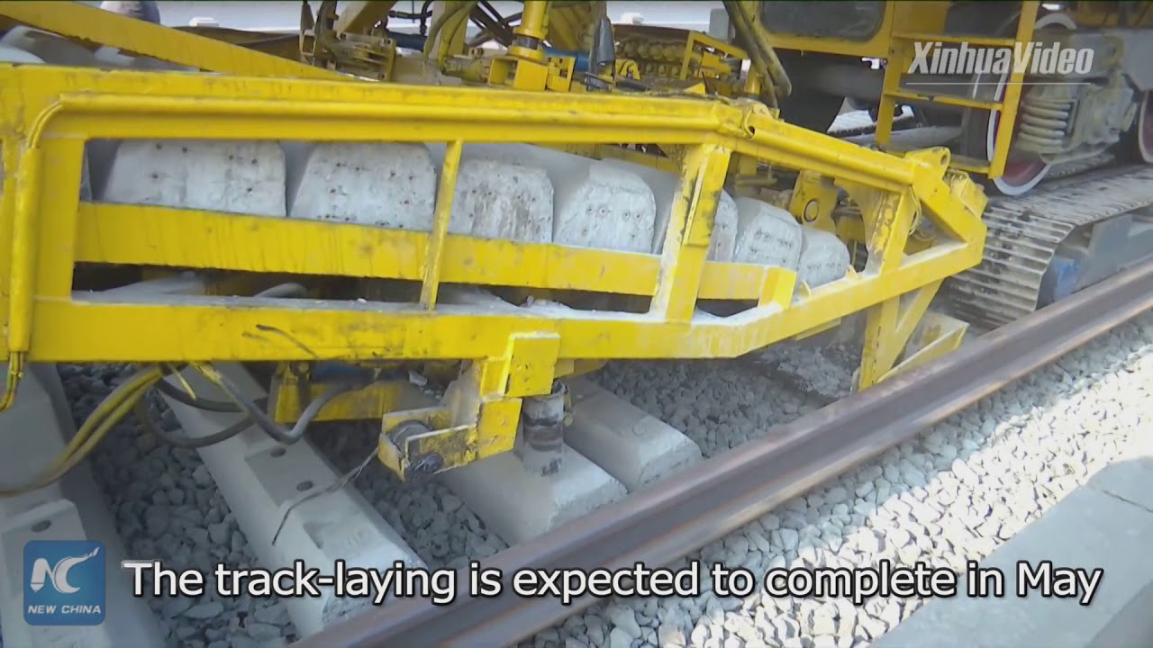 Engineers start laying track for China's Winter Olympic high-speed railway