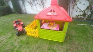 Новый домик в саду.Детский Игрушечный домик.Видео для детей.Игра для детей.