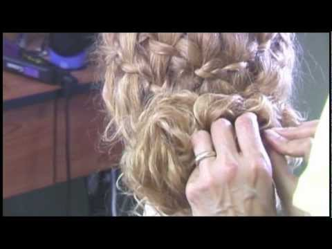 Hairstyles for Curly Hair 3 With Waterfall Braid