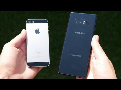 Download Youtube: iPhone SE vs Galaxy Note 8 Speed Test!