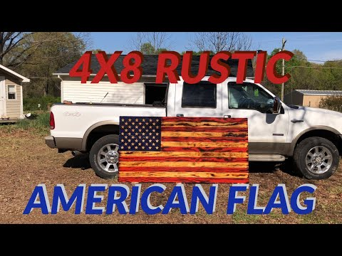Rustic American Flag Project / 4x8