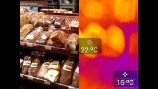 Choosing a bread with a thermographic camera