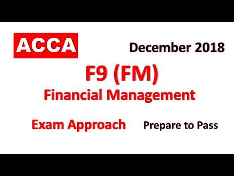 F9 (FM) Financial Management Day 01 ACCA Webinars December exam 2018