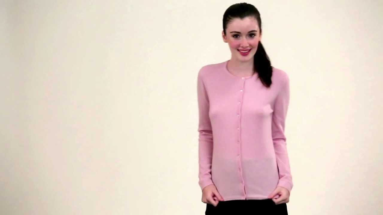 Womens Cashmere Cardigan | Citizen Cashmere - YouTube