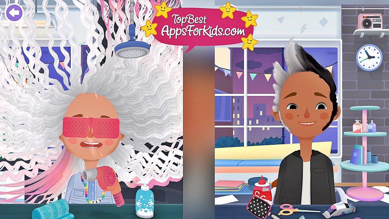 games kids hair for salon haircut