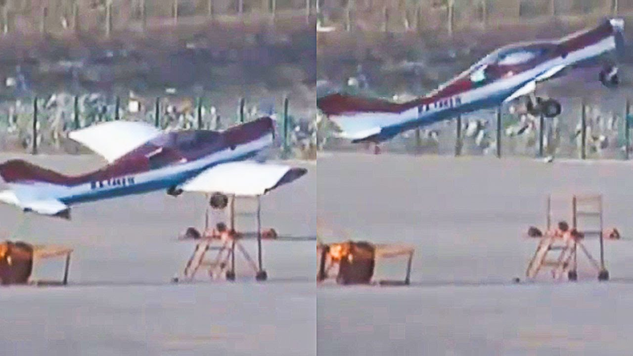 Plane Takes Off By Itself In Strong Winds
