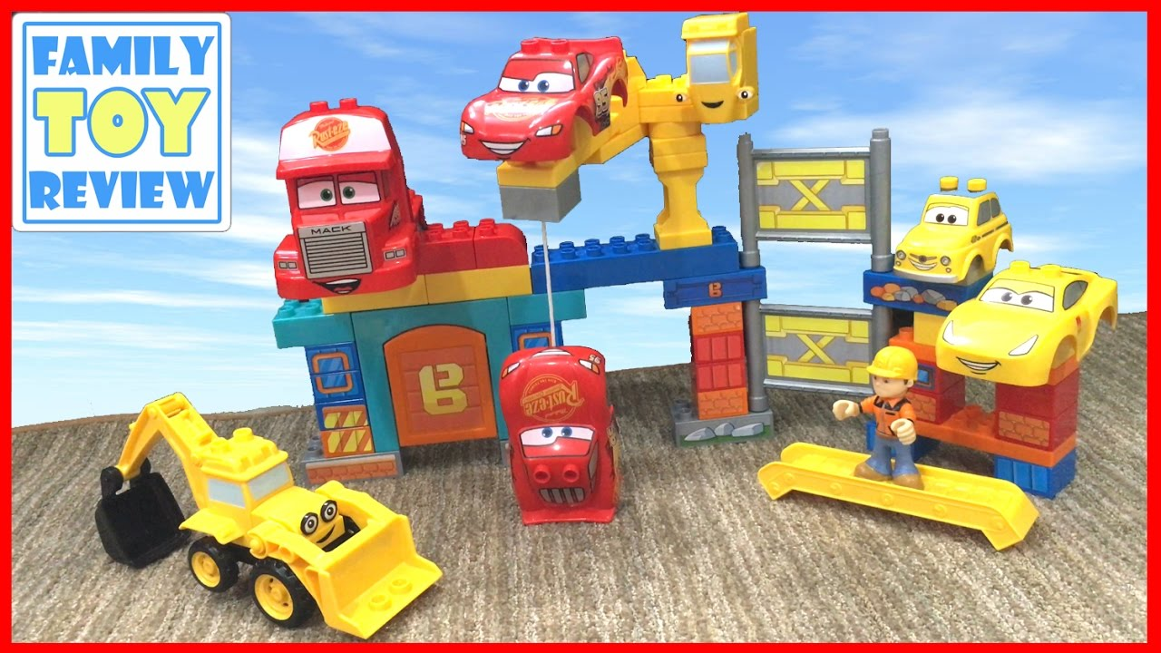 Cars 3 Toys Bob The Builder Mega Bloks Mashup Disney Cars Duplo