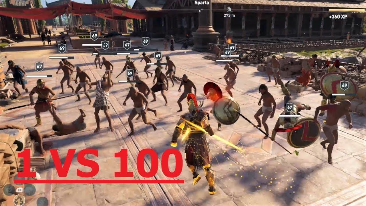 AC Odyssey: I AM INVINCIBLE - One-man Army Conquer Sparta
