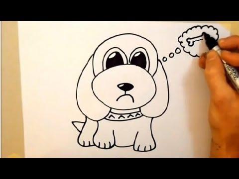 Draw a cartoon dog in 2 minutes