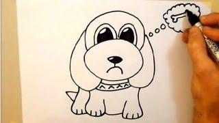 Zeichnen Sie ein cartoon-Hund, in 2 Minuten