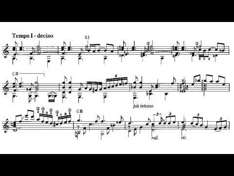 Astor Piazzolla - Invierno Porteño for Guitar (Arr. Sergio Assad) - Score video