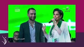 من السعودية - شيرين عبد الوهاب تبكي وتقبل يد زوجها.. نكشف سبب بكائها!