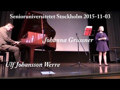 151103 Johanna Grüssner och Ulf Johansson Werre - Underbart är kort