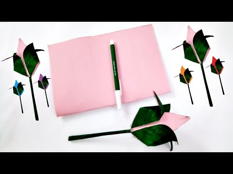 Prompt Pink Paper Rose origami too easily - Room decor Craft - Creative Art Crafts