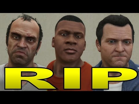 GTA 5 -  ALTERNATE STORY ENDINGS FOR MICHAEL, TREVOR AND FRANKLIN - PARODY (GTA V Rockstar Editor)