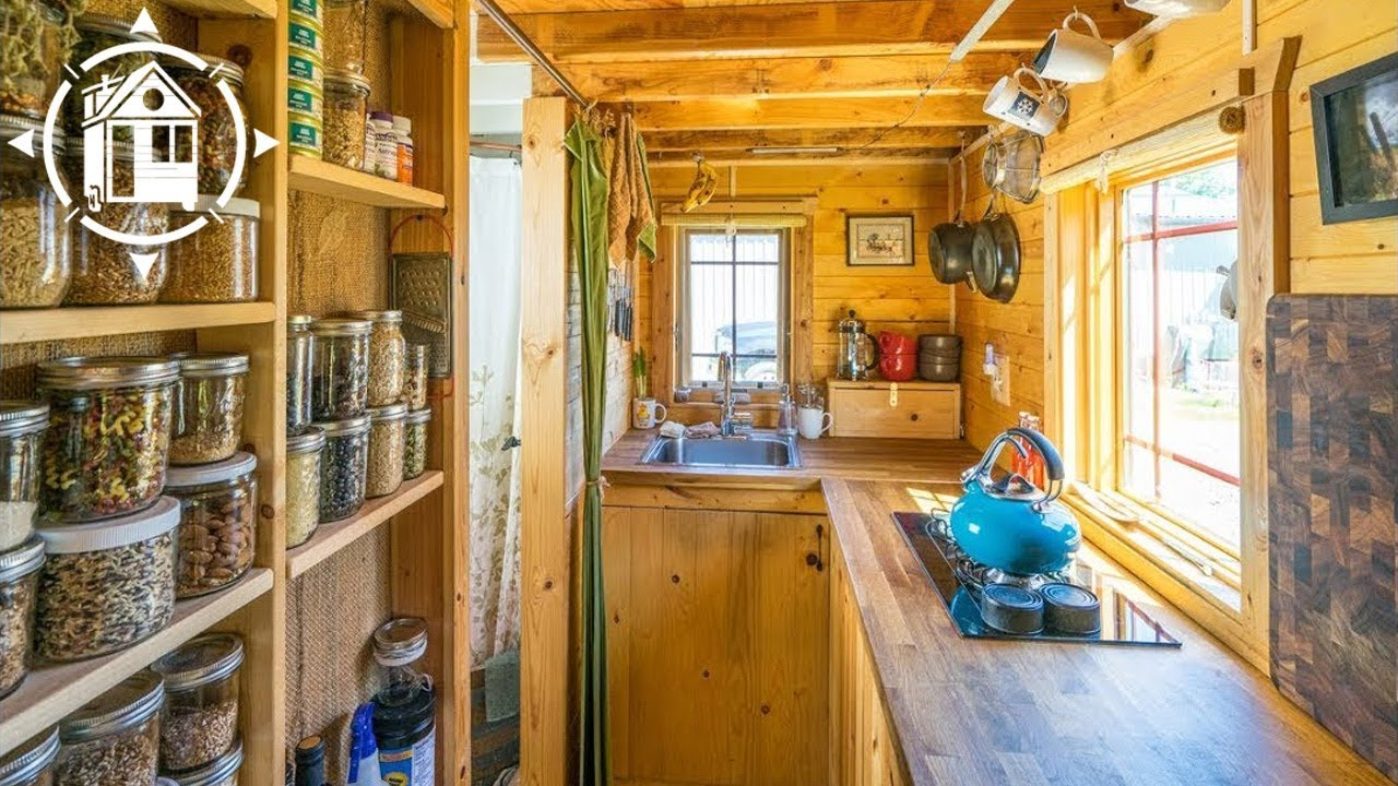 Married Couple Downsizes And Builds Gorgeous Tiny House YouTube - Couple takes tiny house big adventure