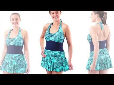 Kes-vir Girls Halter-neck Swimsuit 2